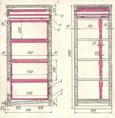 Улей многокорпусный (т.п. 808-5-1)