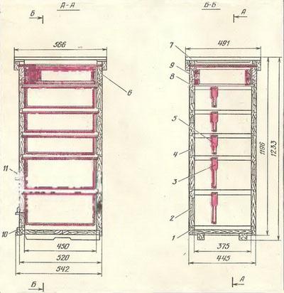Улей двухкорпусный с магазинами (т. п. 3.808-2)